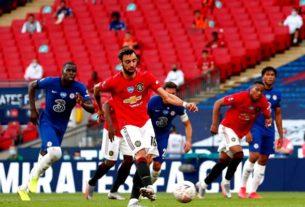 เกมการแข่งขันศึกฟุตบอล เอฟเอ คัพ อังกฤษ รอบรองชนะเลิศ ที่สนามเวมบลีย์ ระหว่าง แมนเชสเตอร์ ยูไนเต็ด พบกับ เชลซี
